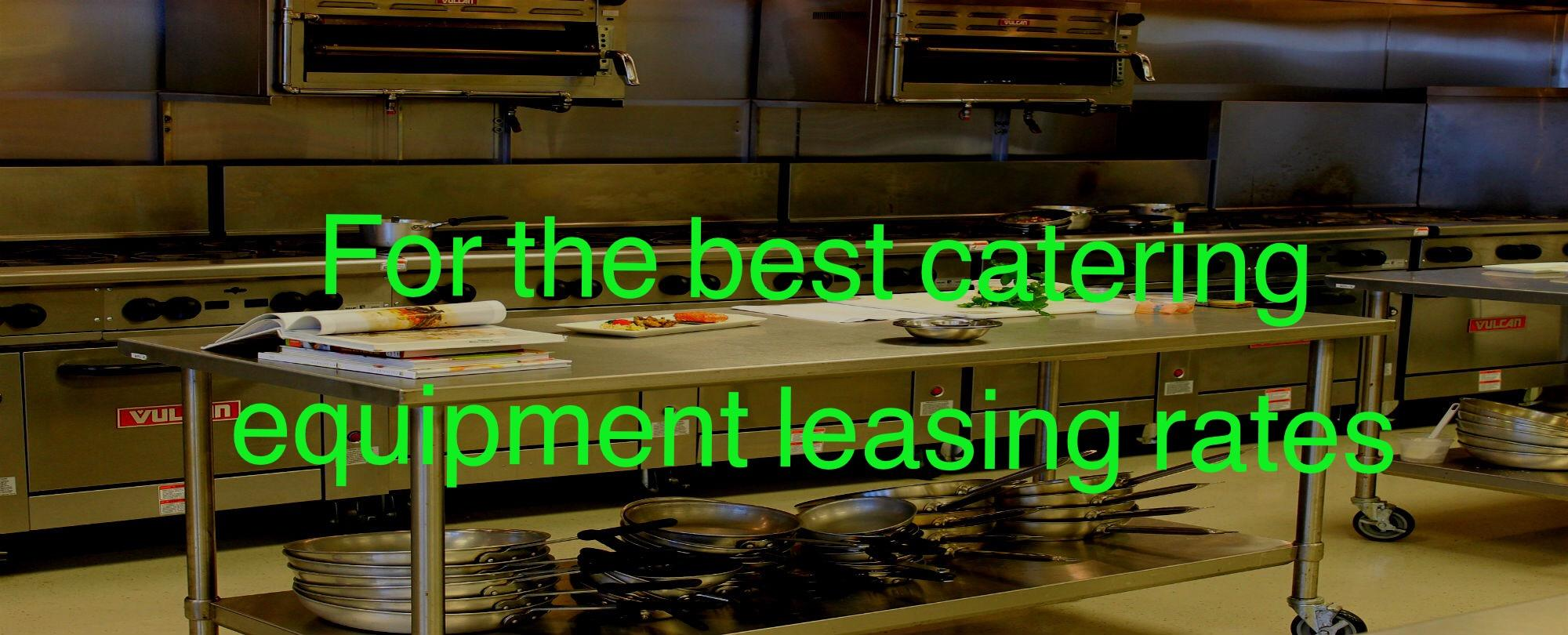 Catering equipment leasing specialists, Oak Leas